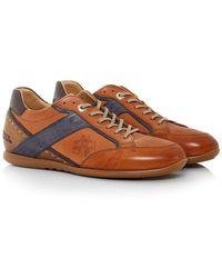 La Martina - Calf Leather Delave Cuoio Trainers - Lyst