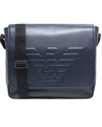 Armani - Maxi Logo Large Messenger Bag - Lyst