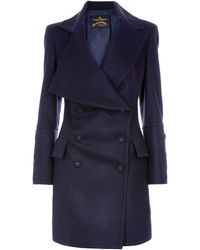 Vivienne Westwood Anglomania - Jabot Wool Coat - Lyst