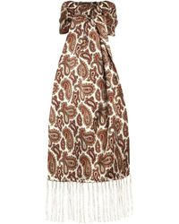 Tootal - Double Paisley Silk Scarf - Lyst