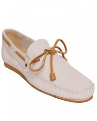 J SHOES - White Soft Leather Moccasins - Lyst