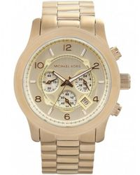 MICHAEL Michael Kors - Golden Oversized Runway Michael Kors Watch Mk8077 - Lyst