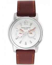 Simon Carter - White Face Chronograph Watch Wt1800w - Lyst