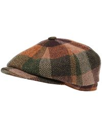 Stetson - Lambswool Check Hatteras Cap - Lyst