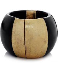 Monies - Chunky Palmwood Ebony Bracelet - Lyst