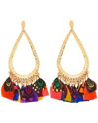 Gas Bijoux - Bibi Feather Teardrop Earrings - Lyst