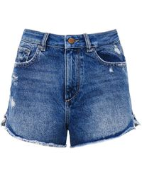 DL1961 - Cleo High Rise Denim Shorts - Lyst