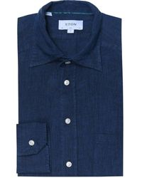 Eton of Sweden - Slim Fit Linen Herringbone Shirt - Lyst