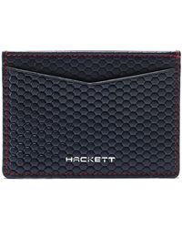 Hackett - Tessellated Leather Card Holder - Lyst