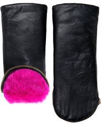 Aristide - Leather Fur Lined Mittens - Lyst