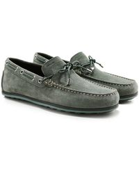 Geox - Suede Mirvin Boat Shoes - Lyst