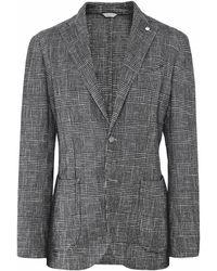 L.B.M. 1911 - Wool Blend Check Jacket - Lyst