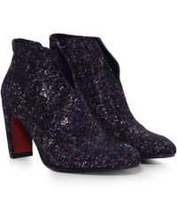 Chie Mihara - Metallic Suede Fedora Boots - Lyst