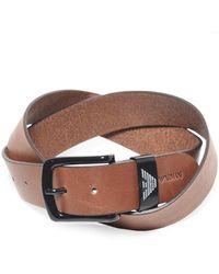 Armani - Armani Textured Leather Belt - Lyst
