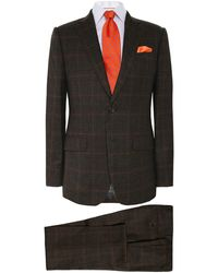 Hackett - Wool Flannel Check Suit - Lyst