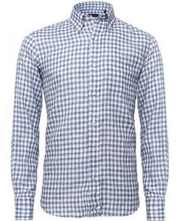 Baldessarini - Gingham Linen Shirt - Lyst