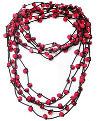 Jianhui - Wooden Bead Necklace - Lyst