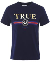 True Religion - Crew Neck True T-Shirt - Lyst