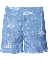 Hackett - Tailored Fit Sail Boat Swim Shorts - Lyst