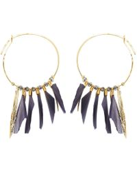 Gas Bijoux - Marly Feather Hoop Earrings - Lyst