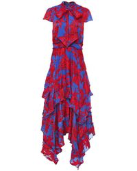 Alice + Olivia - Ilia Ruffle Hem Dress - Lyst