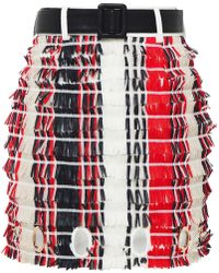 Self-Portrait - Striped Fringe Skirt - Lyst