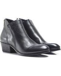 H by Hudson - Apisi Leather Ankle Boots - Lyst