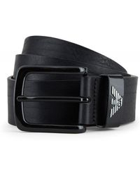Armani - Textured Leather Belt - Lyst
