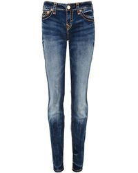 True Religion - Mid Rise Halle Super Skinny Jeans - Lyst