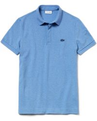 d3ce502a0d Polo slim en coton piqué Lacoste pour homme en coloris Bleu - Lyst