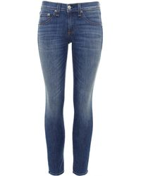 Rag & Bone - Washed Capri Jeans - Lyst