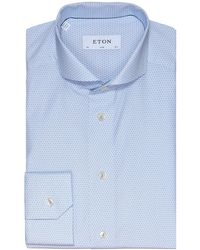 Eton of Sweden - Slim Fit Micro Floral Shirt - Lyst