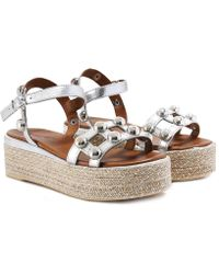 Inuovo - Studded Bar Espadrille Sandals - Lyst