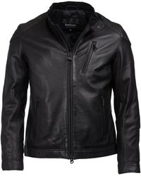 Barbour - Leather Marlon Jacket - Lyst