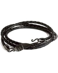 Simon Carter - Leather Wing Wrap Bracelet - Lyst