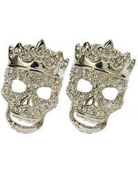 Simon Carter - Swarovski Crystal Tattoo Crowned Skull Cufflinks - Lyst
