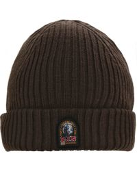 Parajumpers - Wool Blend Ribbed Beanie Hat - Lyst