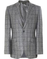 Hackett - Flannel Wool Windowpane Check Jacket - Lyst