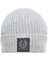 Belstaff - Seabrook 2.0 Wool Mid Grey Melange Beanie - Lyst