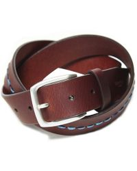 Hackett - Leather Central Stitch Belt - Lyst