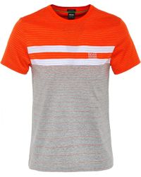 BOSS Green - Regular Fit Mercerised Cotton Tee 12 T-shirt - Lyst