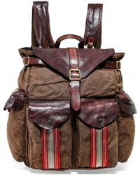 Campomaggi - Natural Canvas Backpack - Lyst