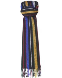 Paul Smith - Lambswool College Stripe Scarf - Lyst