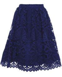 Alice + Olivia - Joyce Knee Length Lace Skirt - Lyst