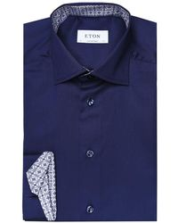 Eton of Sweden - Contemporary Fit Patterned Trim Shirt - Lyst