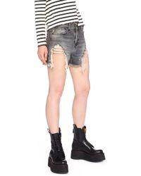 R13 - Fringed Hem Shorts - Lyst