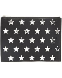 Saint Laurent - Zipped Pouch With Mirrow Stars - Lyst