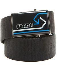 Prada - Buckle Logo Belt - Lyst