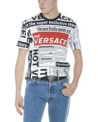 Versace - T-shirt 'Tabloid' - Lyst