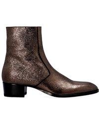 Saint Laurent - 'wyatt' Ankle Boots - Lyst